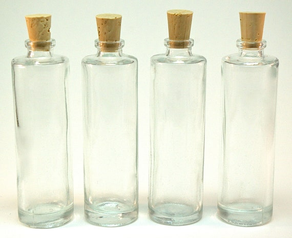 20 Mini Glass Bottles with Corks, 35ML, 1.25 ounce for DIY Wedding and Shower Favors, Message in a Bottle, Potions, Samples, Perfume