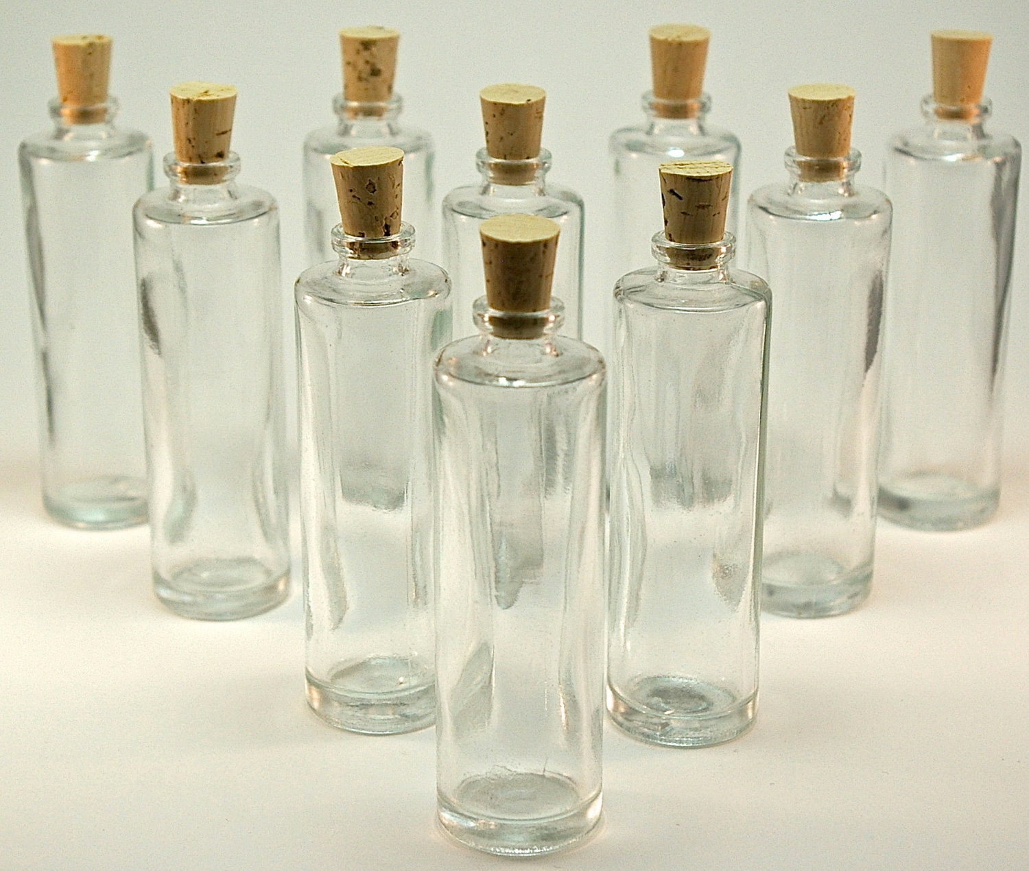 50 Mini Glass Bottles With Corks 1 1 4 Ounce 35ml For Diy