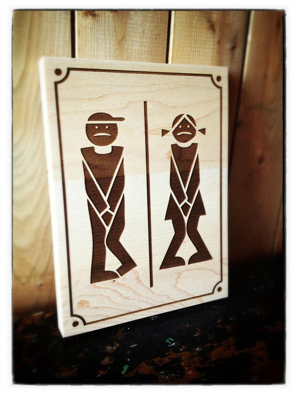Muestra la puerta de ba o madera laser cartel para puerta de - Muestras de banos ...
