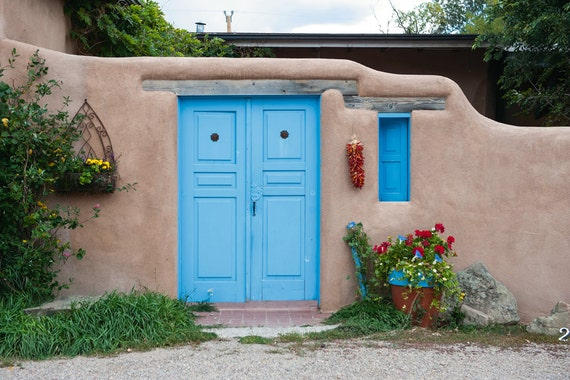 Taos photography -  Adobe Beauty - Southwest architecture - Fine art travel photography - Elegant minimalism, vintage