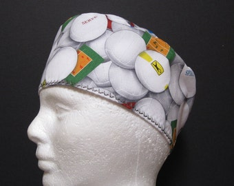 Mens Scrub Cap, Surgical Cap, Surgery Hat or Scrub Hat with Volleyballs