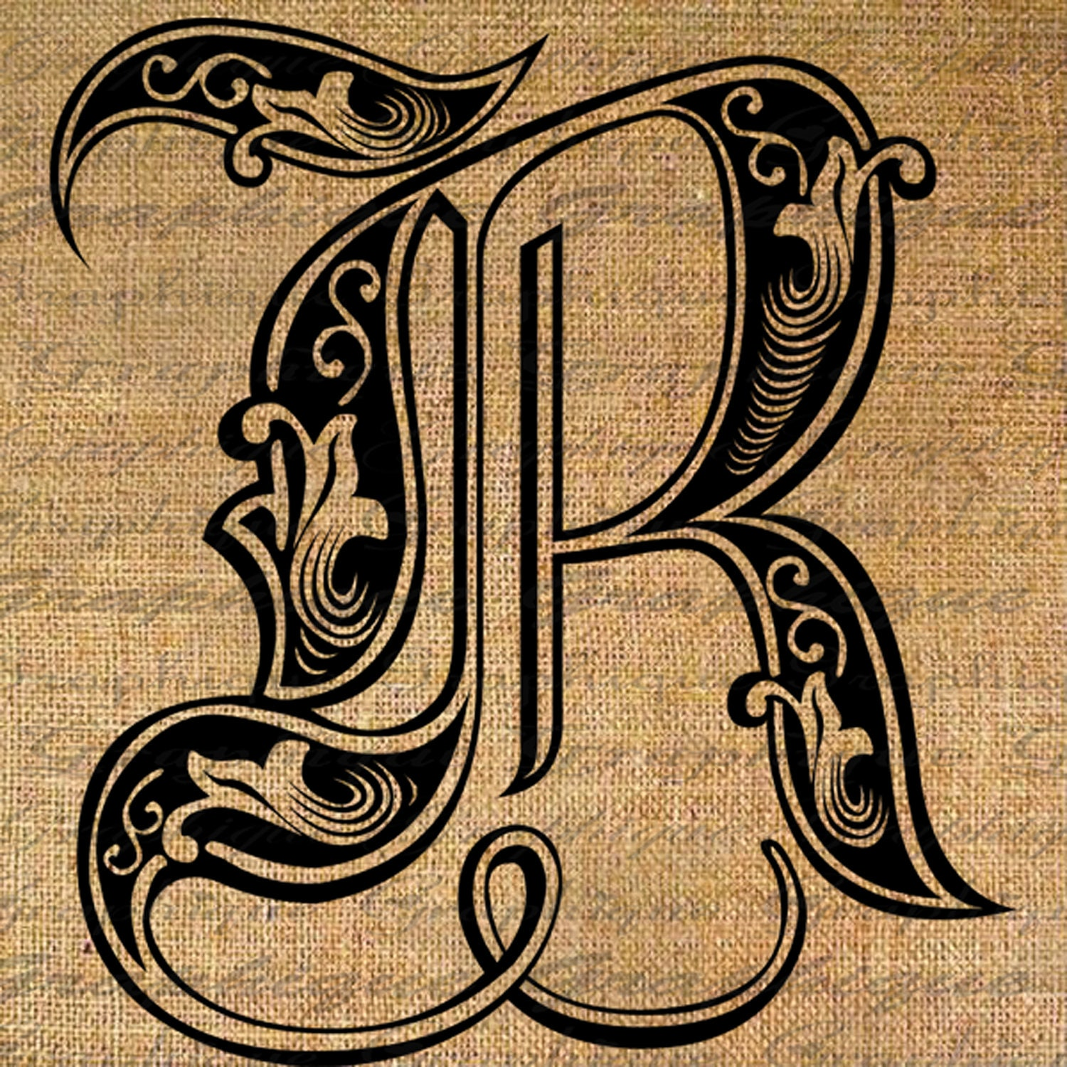sample offer letter letter initial r monogram engraving style type by 1596