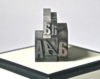Letter A Vintage Letterpress Type for Printing Stamping Altered Art Collage