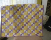 Purple Yellow Baby Quilt