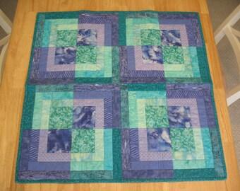 Purple Green Geometric Quilt