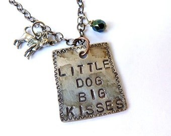 Little Dog, Big Kisses, Chihuahua, Necklace