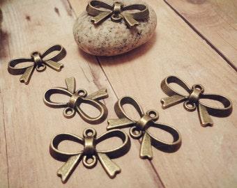 20pcs Antique Bronze Cute Bow Jewelry Connectors P35-HK9074