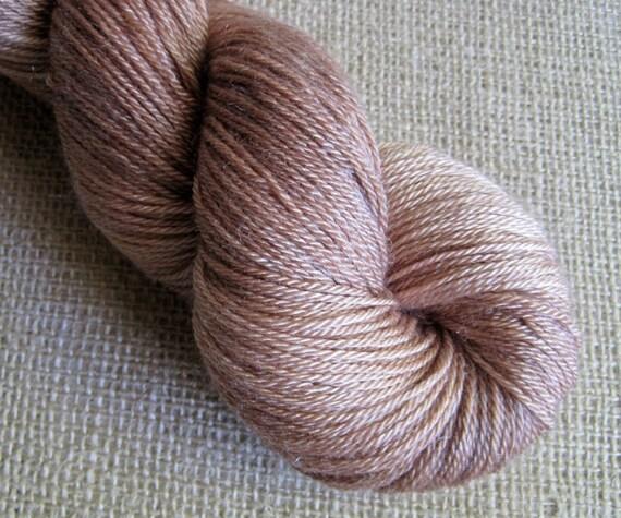 Cinnamon Skeiny Dipper - SW Merino & Tencel - Fingering Sock Yarn - 412 yds