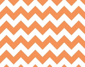 Riley Blake Chevron - Orange - Medium - Cotton Quilting BTY