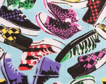 Spring's Creatives - Punky Shoes - Flannel - 34 inches- OOP - Pre cut