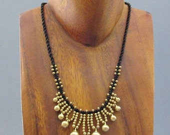 Hippie Jingle Bell Square Knot Necklace