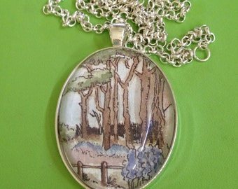 Walk in the Park  Pendant Necklace