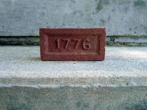 Vintage 1776 Insurance Company Promo Promotional Brick Advertising Paperweight Factory Industrial Chic