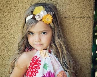 Beautiful Vintage Inspired Fall Headband - Newborn Baby Girl Toddler Headband - Great Photo Prop