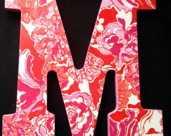 Lilly Pulitzer Inspired Letters - Tango Orange Tango