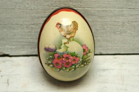 Vintage Tin Easter Eggs Set of 5