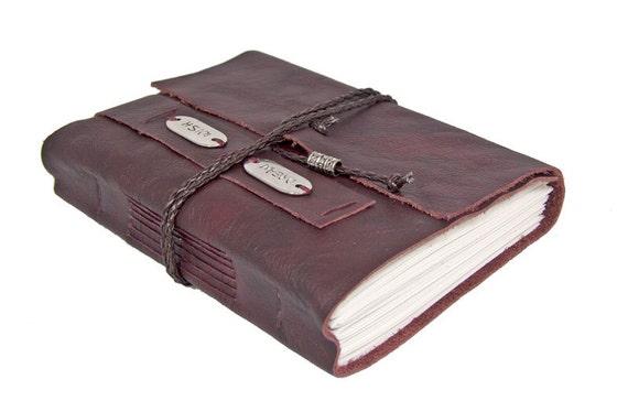 Burgundy Leather Journal