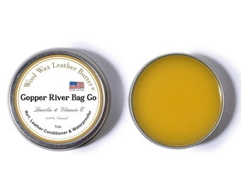 Leather Conditioner - Leather Restorer - Water prooper - Wool Wax Leather Butter by CRB - 100% Natural - Made in the U.S.A.