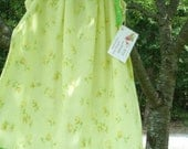 SALE Vintage Pillowcase Dress Sz.3T Yellow Floral with Spring Green Trim OOAK