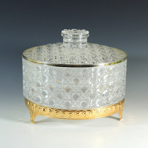 Clear Dusting Powder Box Trinket Box By Broadleystreet