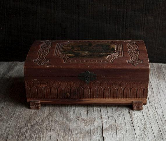 Wooden Jewelry Box - Victorian Vintage