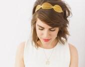 Gold Metal Leaf Headband- SAMPLE SALE STYLE 14
