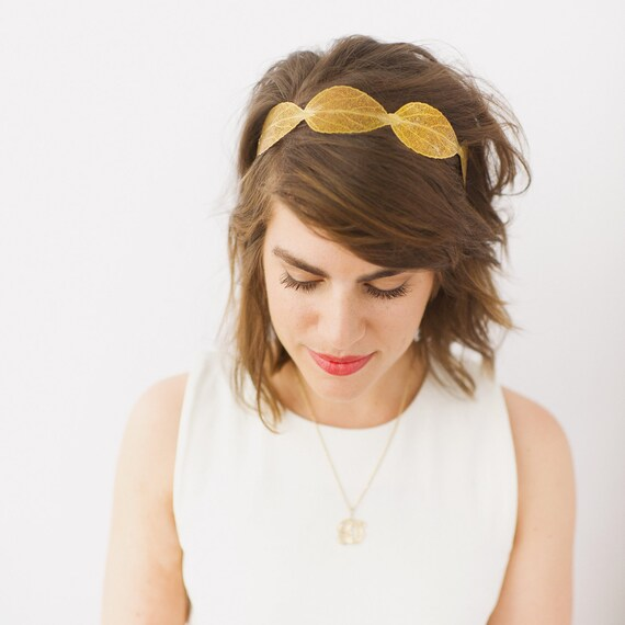 Gold Metal Leaf Headband- SAMPLE SALE STYLE 14