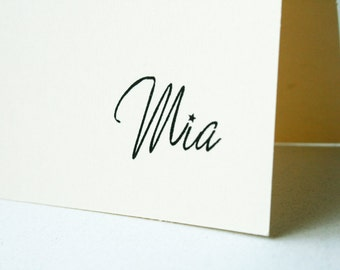 Personalized Stationery -- Mia --  Stationery Set of Custom Notes & Envelopes- CHOOSE your QUANTITY