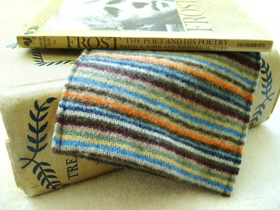 Kindle Cover, Kindle Case, Kindle Sleeve RETRO STRIPES Felted Sweater Wool