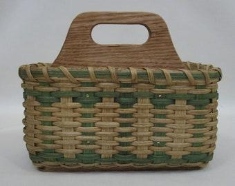 Silverware / Paper Plate / Napkin Basket-Organizer Caddy Basket / Handwoven Basket