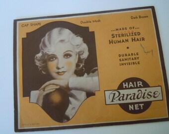 Paradise Hair Net Vintage Hair Accessory Litho