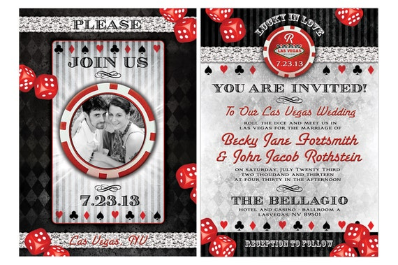 Las Vegas Wedding Invitation Wording: Lucky In Love Las Vegas Destination Wedding By Mybigdaydesigns