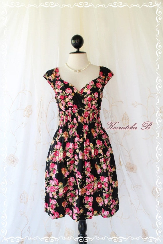 Last Piece SALE -  Colorful Collection Sweet Party Day Dress Vibrant Colours Dolly Cap Sleeve Pretty Dress Style M-L