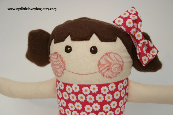 Fabric Doll - Brunette