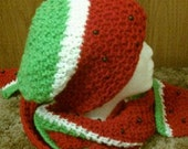 Watermelon hat and scarf set