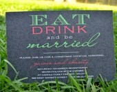 Engagement Party or Wedding Shower Invitation (be married)