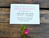 Invitation Deposit: Bridal, Bridesmaid, Lingerie, Birthday (french market)