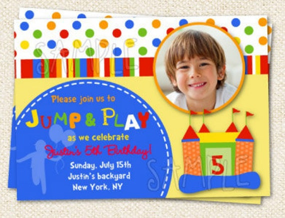 Inflatable Bounce House Printable Invitation