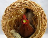 Chicken in a Nest Christmas Ornament 206