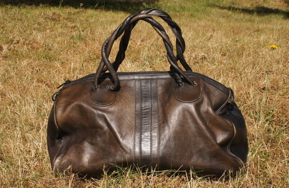 Rustic Mahogany leather duffle bag
