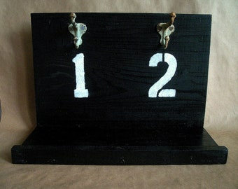 Industrial Chic Hanging Wood Shelf and Key Rack