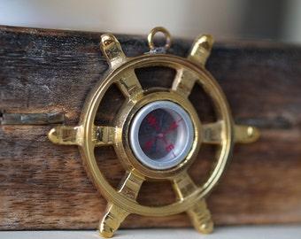 1 pc 70 mm Brass Whell Compass