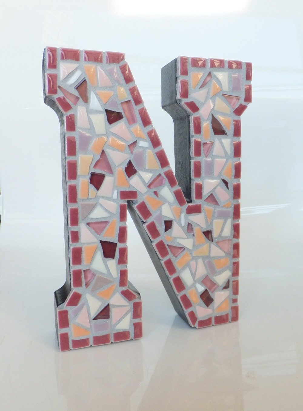 Letter n wall art 6 mosaic home decor by mollycatmosaics for Letter n decorations