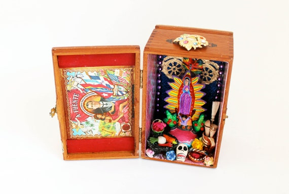 Mexican Boxing Art Mexican Folk Art Shrine