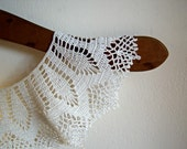 On Sale Vintage Handmade Crochet White Collar  Online Vintage, vintage clothing, home accents, vintage dress