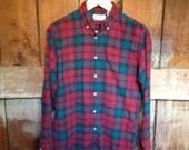 Vintage LL Bean Flannel Shirt,  Ladies M