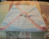 Florida weight Baby Blanket with crocheted scalloped picot edge.