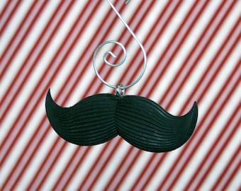 Villainous Mustache Fingerstache Christmas Ornament
