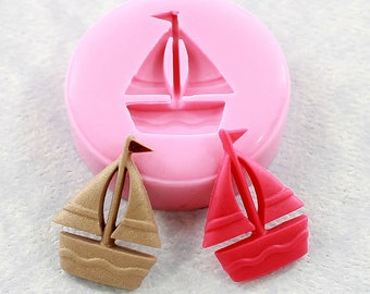 Sailboat Mold Silicone Mould Polymer Clay Resin Scrapbooking Embellishment (312)