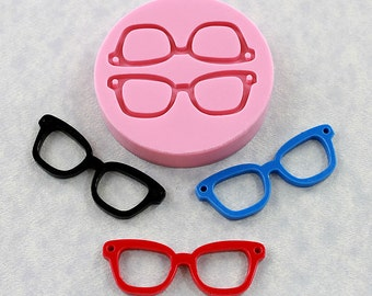 Eye glasses Mold Mould Silicone Nerd Geek Resin Mold (302)